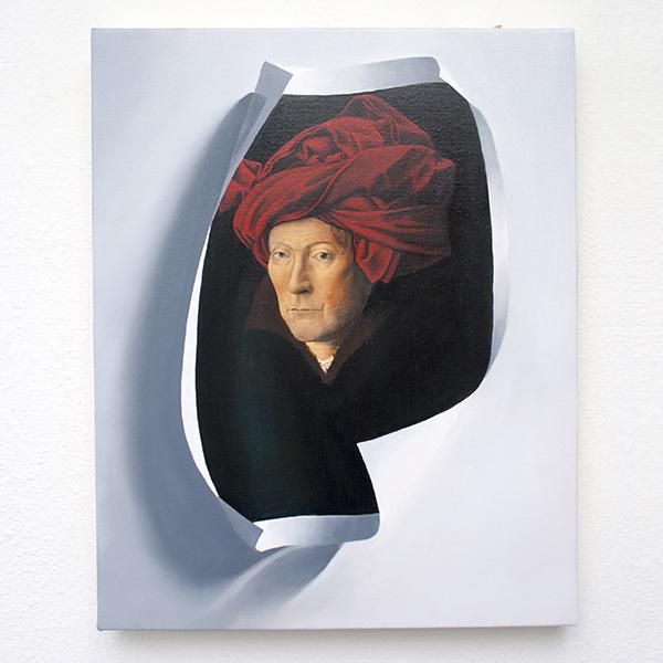 Niek Hendrix - Life Size - 41x33cm Olieverf op canvas op paneel