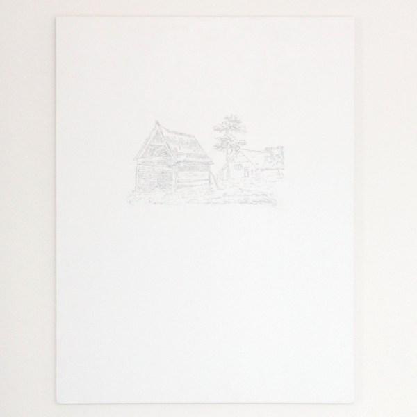 Niek Hendrix - Traces (Vincent van Gogh in Zundert) - 65x50cm Gesso en ongefixeerde houtskool op paneel