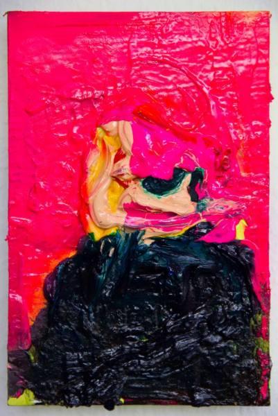Ozren Olbina - Madame Blowing Smoke - 30x20cm, 2014