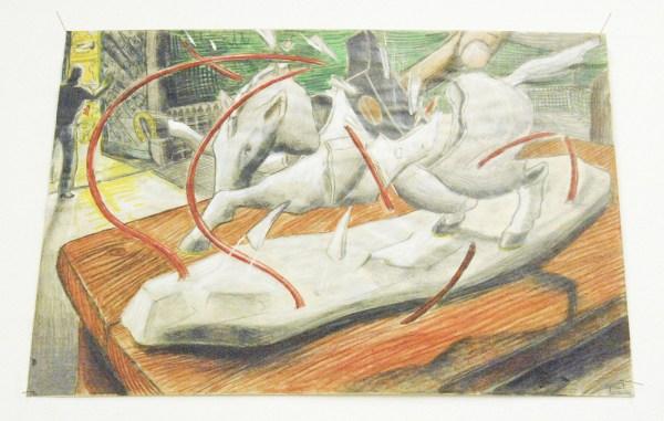 Paul Klemann - De Schat van Aragon (Tekening van Paard Dat Stukgeslagen Wordt met een Hamer)