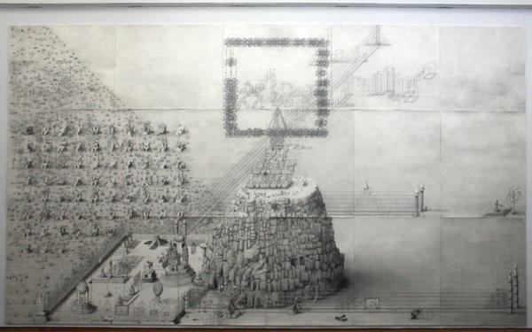 Paul Noble - Ye Olde Ruin - Grafiet op papier