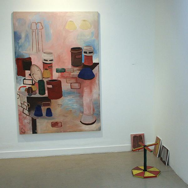 Paul de Jong - Geen Titel - 139x145cm Olieverf op canvas (en diverse kleine zonder titels)