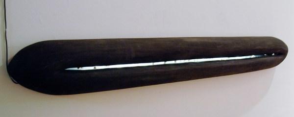 Paul de Reus - Gouden Tanden - 19x11x158cm Hout, brons en lamp