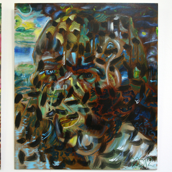 Philip Akkerman - #127 - 50x43cm Olieverf op paneel