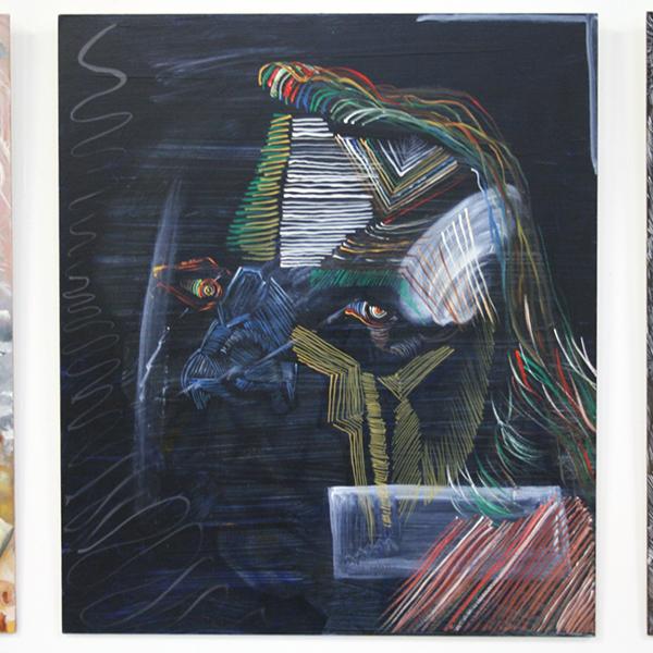 Philip Akkerman - #54 - 50x43cm Olieverf op paneel