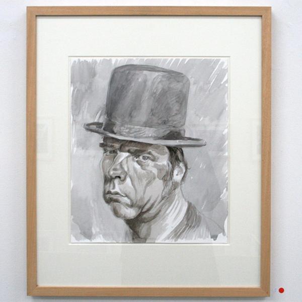 Philip Akkerman - nr 56 - 40x34cm Aquarel en potlood op papier