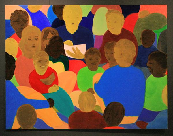 Philip Kremer - Basic Community IV - 200x250cm Olieverf op doek