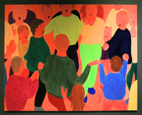 Philip Kremer - Basic Community IX - 200x260cm Olieverf op doek