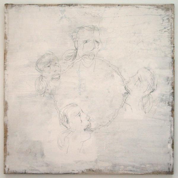 Philippe Vandenberg - La Misere du jour - Bloed, verf en potlood op katoen