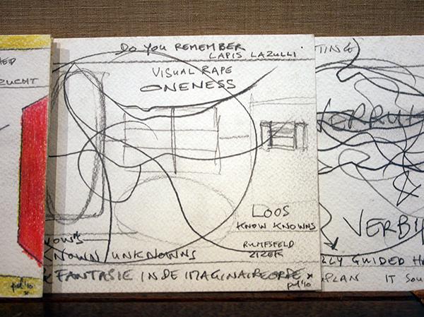 Piet Dirkx - Taalpap - 14x9cm, 30 bladzijden leporello (detail)