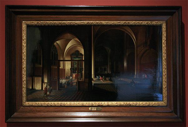 Pieter Neeffs de Oude - Interieur van een kerk - Olieverf op paneel