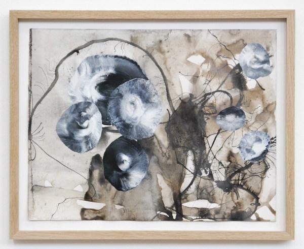 Reinoud van Vught - Untitled - 24x30cm Inkt, acrylverf en bister op papier 2014