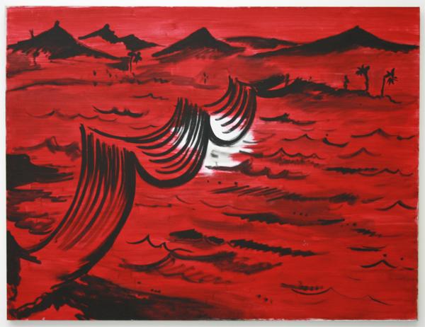 Rene Daniels - Ondergronds verbonden - Olieverf op canvas