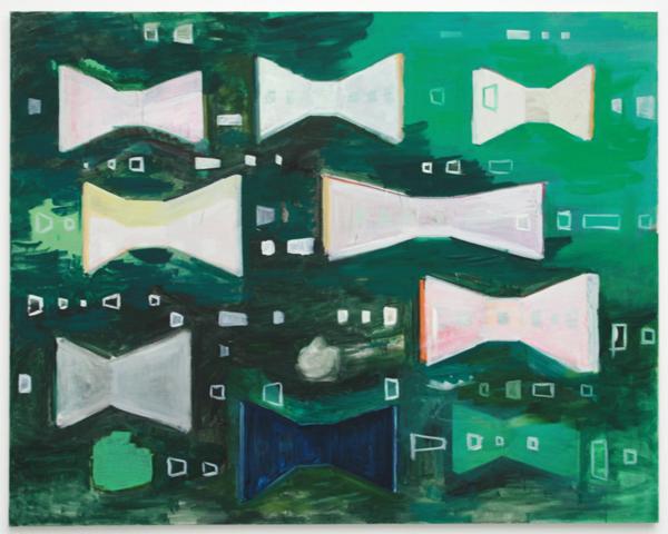 Rene Daniels - Painting on Unknown Languages - Olieverf op doek
