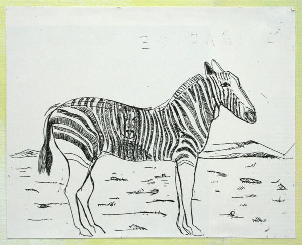 Rene Daniels - Zebra (mooie tentoonstellingen) - Olieverf op doek (detail)