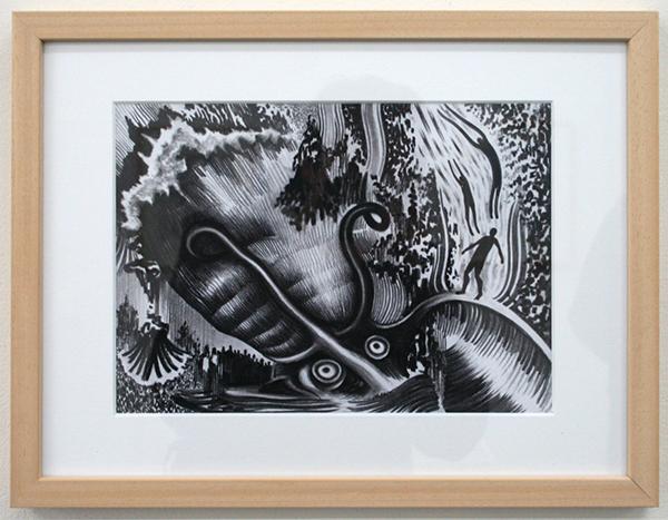 Rens Krikhaar - Sould of the Sea - 20x29cm Negropotlood op papier
