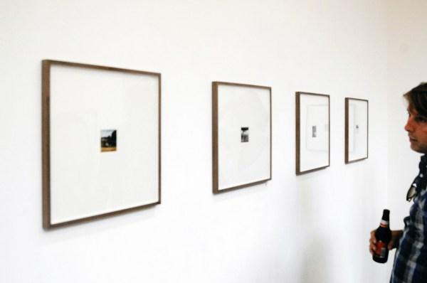 Rik van Santen - Geen titels - 6x6cm Contact imprint met inkt, pen en andere tekenmaterialen