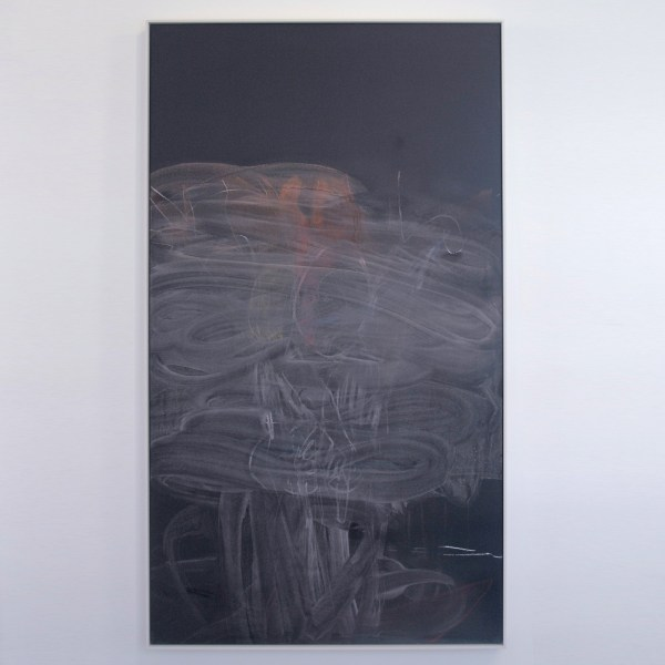 Rita Ackermann - Chalkboard Painting XVI - 196x102cm Acrylverf, spuitbus en krijt op canvas