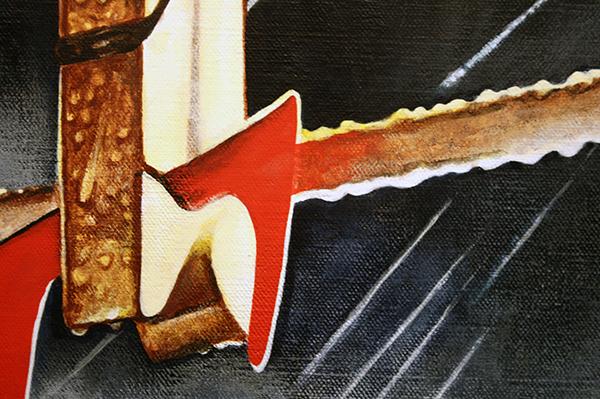 Rob Scholte - Benson & Tears - 150x150cm Acrylverf op linnen (detail)