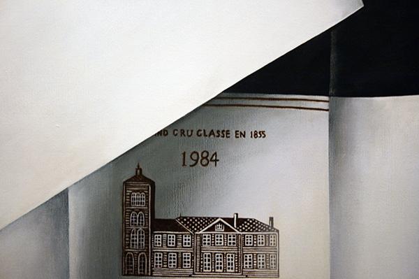 Rob Scholte - Chateau Migraine - 150x150cm Acrylverf op linnen (detail)