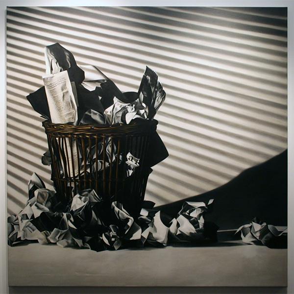 Rob Scholte - Cubist Waste Land - 150x150cm Acrylverf op linnen