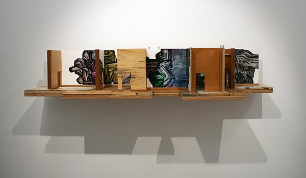 Rob Bouwman - Untitled (Labyrinth) - Olieverf en alkyd op hout