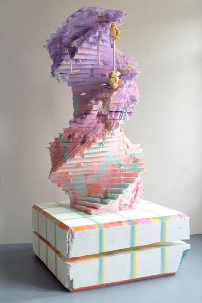 Robbert Pauwels - Sunset Arlen Texas - 125x256x125cm Polystyreen, polyester, pu-schuim, hout en spuitlak, 2015