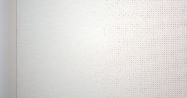 Robert Irwin - Zonder TItel - Olieverf op doek op paneel (detail)