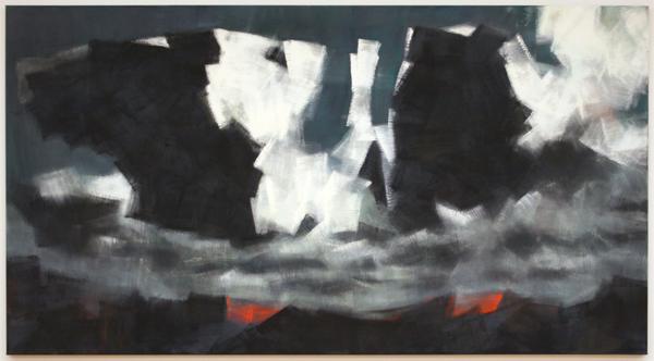 Robert Zandvliet - Maannacht - Eitempera op linnen