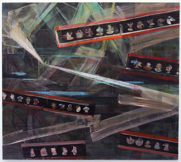 Roger Cremers - Laterna Magica - 160x180cm Olieverf en Acrylverf op linnen