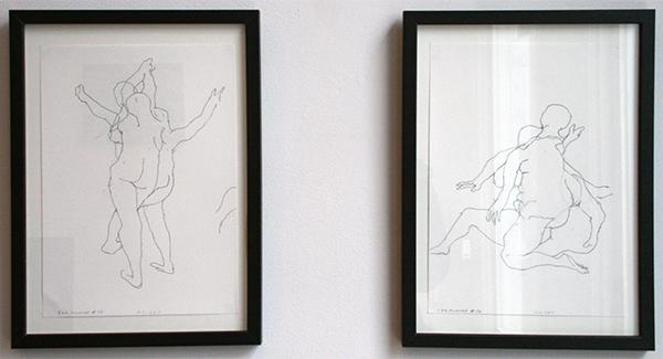 Roland Sohier - Zoe Moves #10 & #15 - 30x21cm Potlood op papier