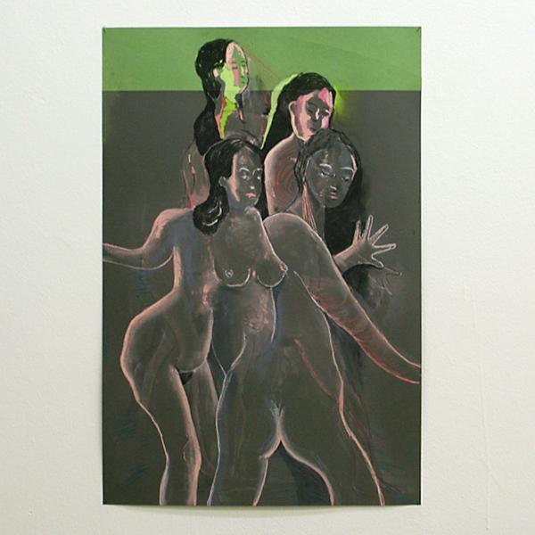 Roland Sohier - Zonder Titel (2107) - 75x50cm Pastel op papier