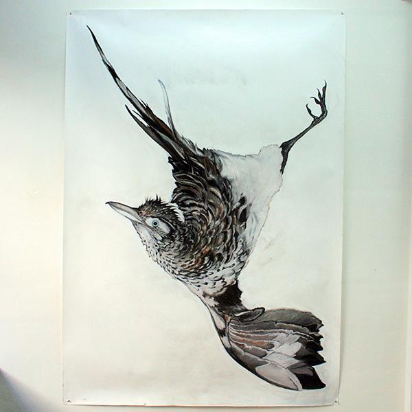 Roos Holleman - Roadrunner - 220x150cm Pastel en Siberisch krijt op papier