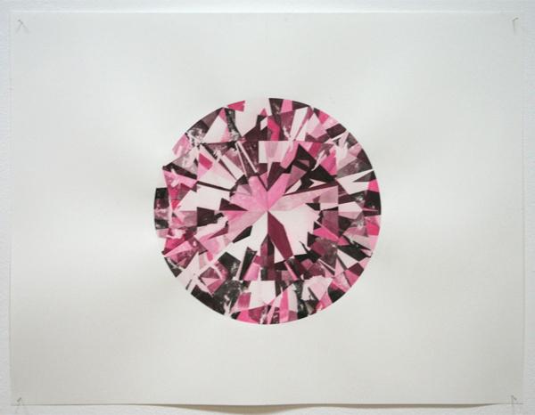 Rudolf Romero - Brilliant (pink) - Tekening