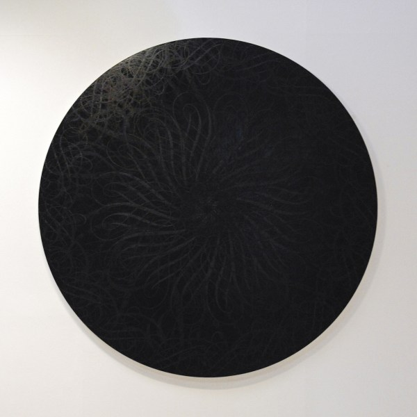 Ryan McGinnes - Untitled (Black Hole, Black on Black 72,1) - 183cm Acrylverf op canvas