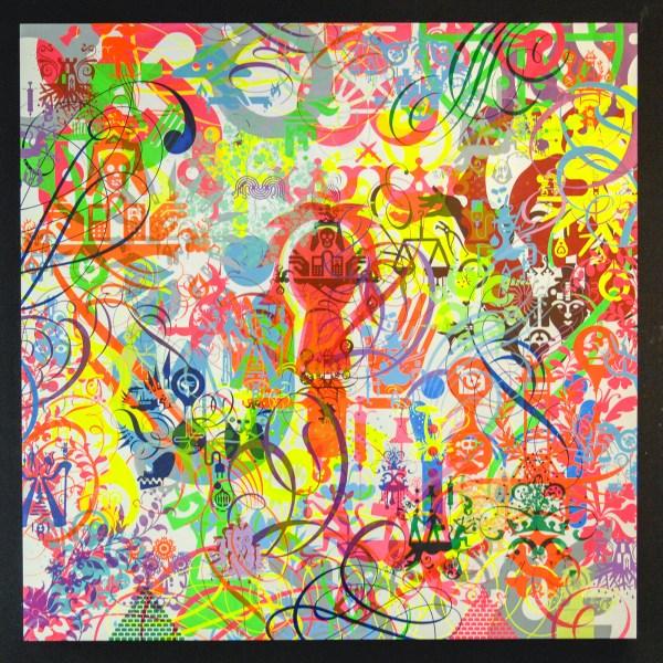 Ryan McGinness - Dreamality - 122x122cm Zeefdruk met acrylverf op paneel