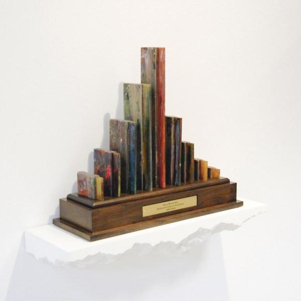 Ryan McGinness - Squeegee Trophy (2008-2010) - 65x71x25cm Gebruikte rakels op brons
