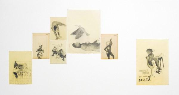 Sandra Vasquez de la Horra - Diverse titels - Potlood op papier en bijenwas 2007-2010
