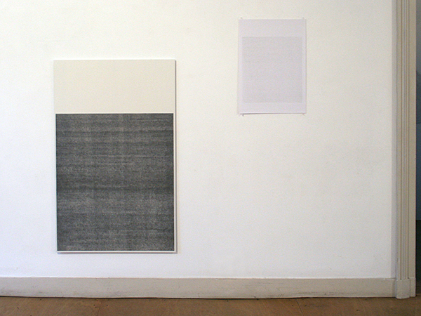 Sarah van der Lijn - 70 procent grijs #1 & Grijs - 122x76cm Potlood op MDF & 59x42cm Potlood op papier