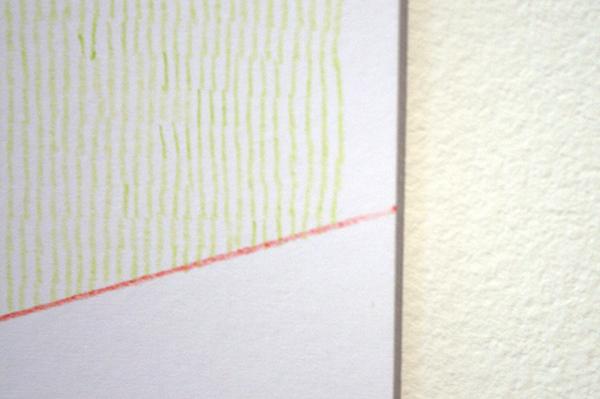 Sarah van der Lijn - Groen Rood Punt - 15x21cm Kleurpotlood op papier