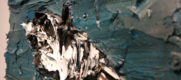 Simon Schrikker - Great White - 40x50cm Olieverf op linnen (detail)
