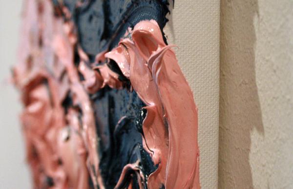 Simon Schrikker - Octopus - 30x40cm Olieverf op linnen (detail)