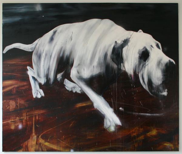 Simon Schrikker - Untitled - 210x250cm Olieverf op canvas