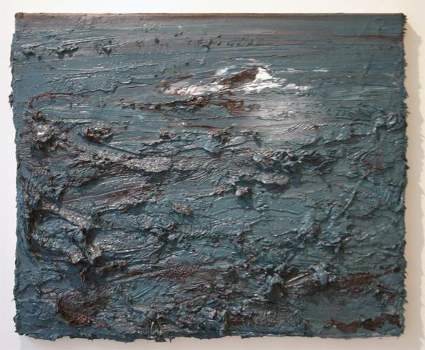 Simon Schrikker - Zonder Titel (Great White) - 50x60cm Olieverf op linnen
