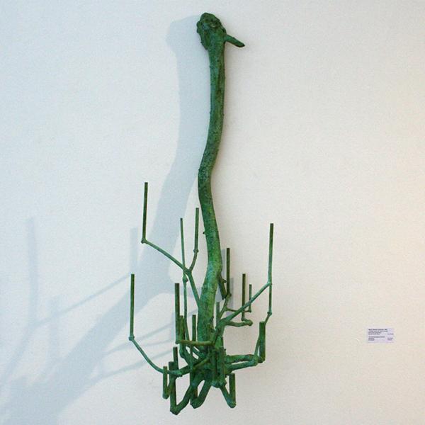 Sjoerd Buisman - 10,06328 zonder titel (Viscum verticaal) - 90x35x40cm Brons