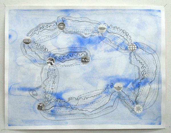 Stan Klamer - Zonder Titel - 50x65cm Potlood en aquarel op papier