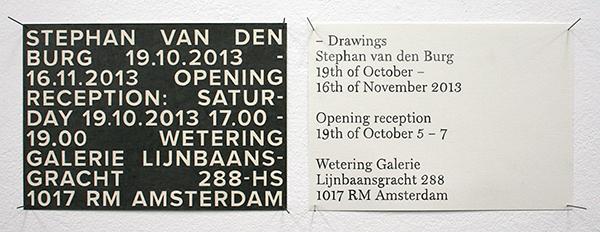 Stephan van den Burg - Exhibition card I & II - 15x21cm Potlood op papier