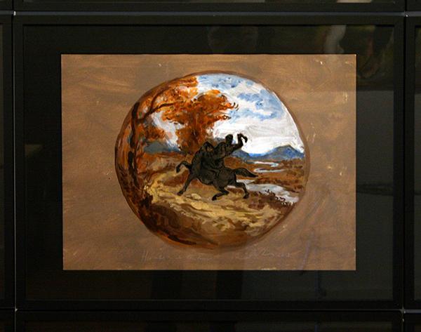 Stijn Peeters - Write your Legend, in the Blood of the Fallen - (serie van 16 delen) 46x63cm Schilderingen op papier (detail)