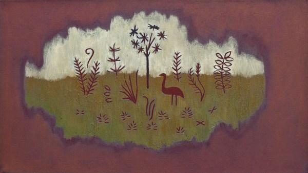 Tessa Chaplin - Zonder titel - 40x70cm Olieverf op canvas, 2014