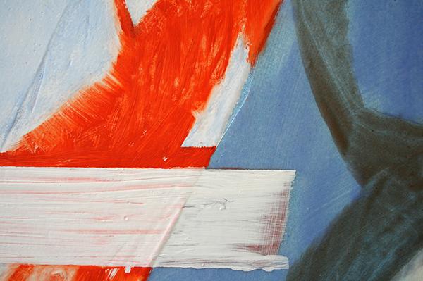 Toon Verhoef - Zonder Titel - 150x90cm Olieverf en acrylverf op doek (detail)
